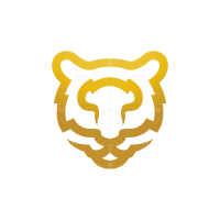 Golden Tiger Head Logo Bengal Tiger Logo