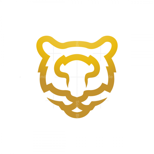 Tiger Logo Golden Tiger Head Logo