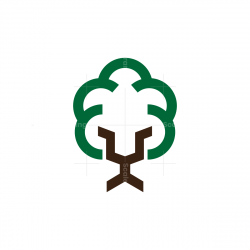 Tree Lion Logo
