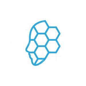 Virtual Assistant Head Logo
