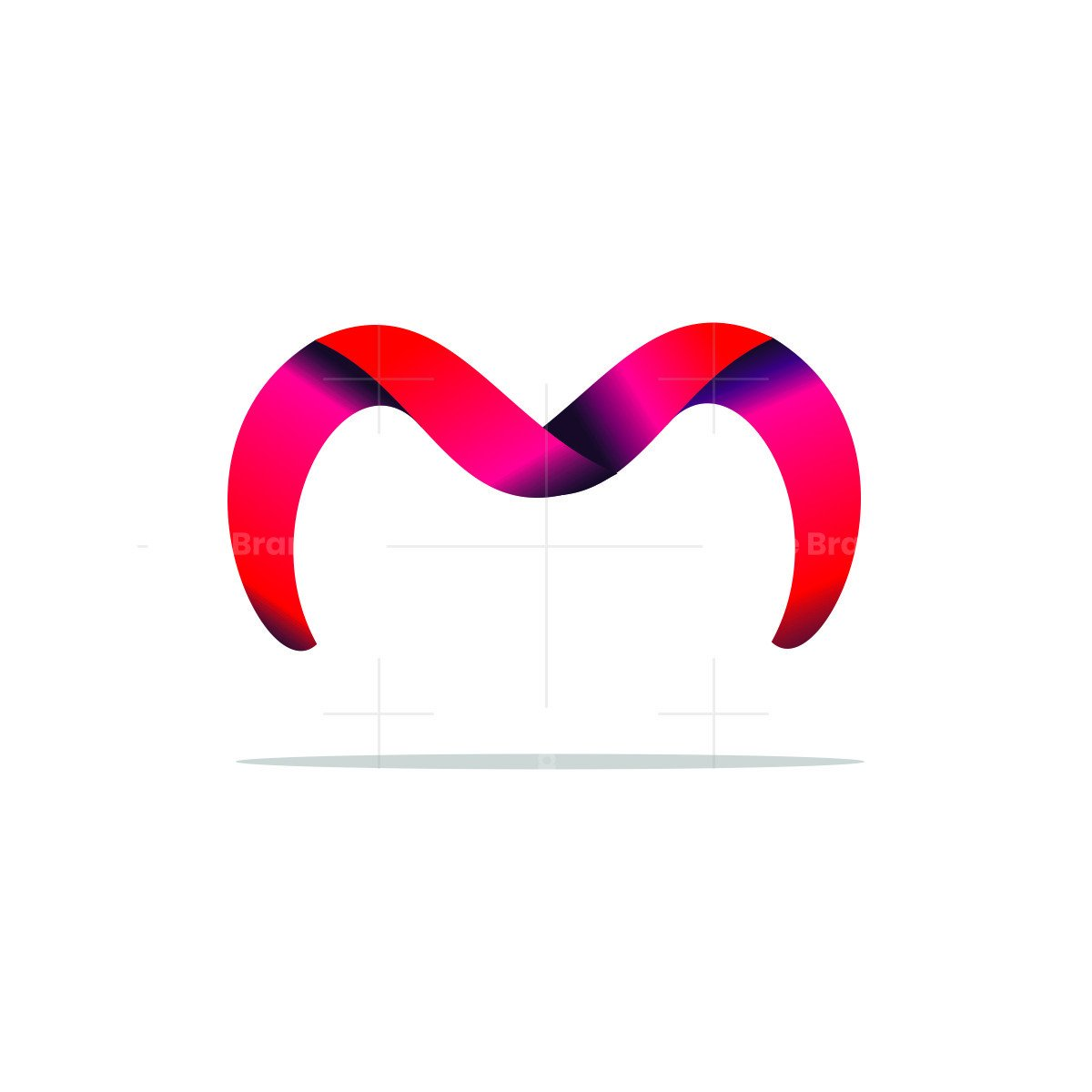 3d stylish and trendy letter m m letter logo
