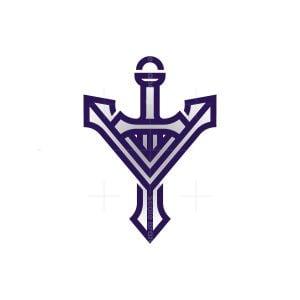 Sword Letter V Or A Monogram Logo