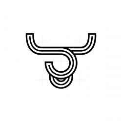 Abstract Bull Head Logo