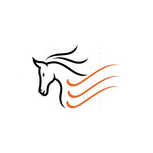 Beautiful Horse Logo Stallion Logo