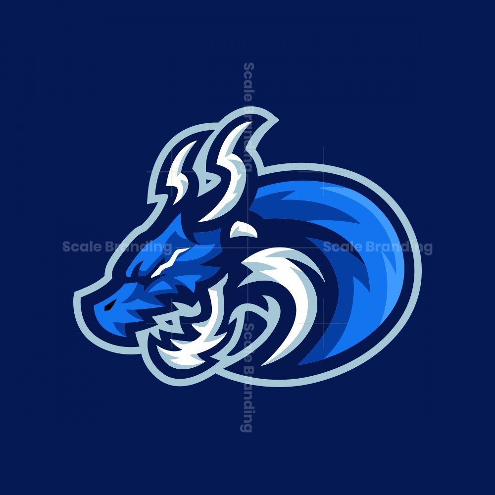 BLUE DRAGON MASCOT LOGO
