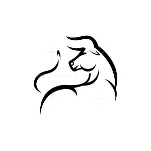 Strong Bull Logo Stylized Bull Logo