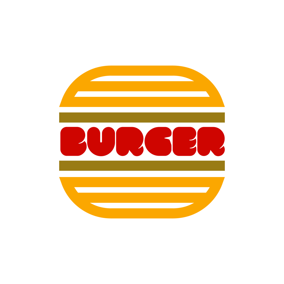 pop burger symbol logo