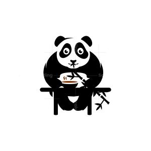 Coffee Panda Logo Bamboo Panda Logo