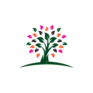 Colorful Tree Logo Tree Logo