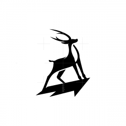 Proud Black Deer Logo Stag Logo