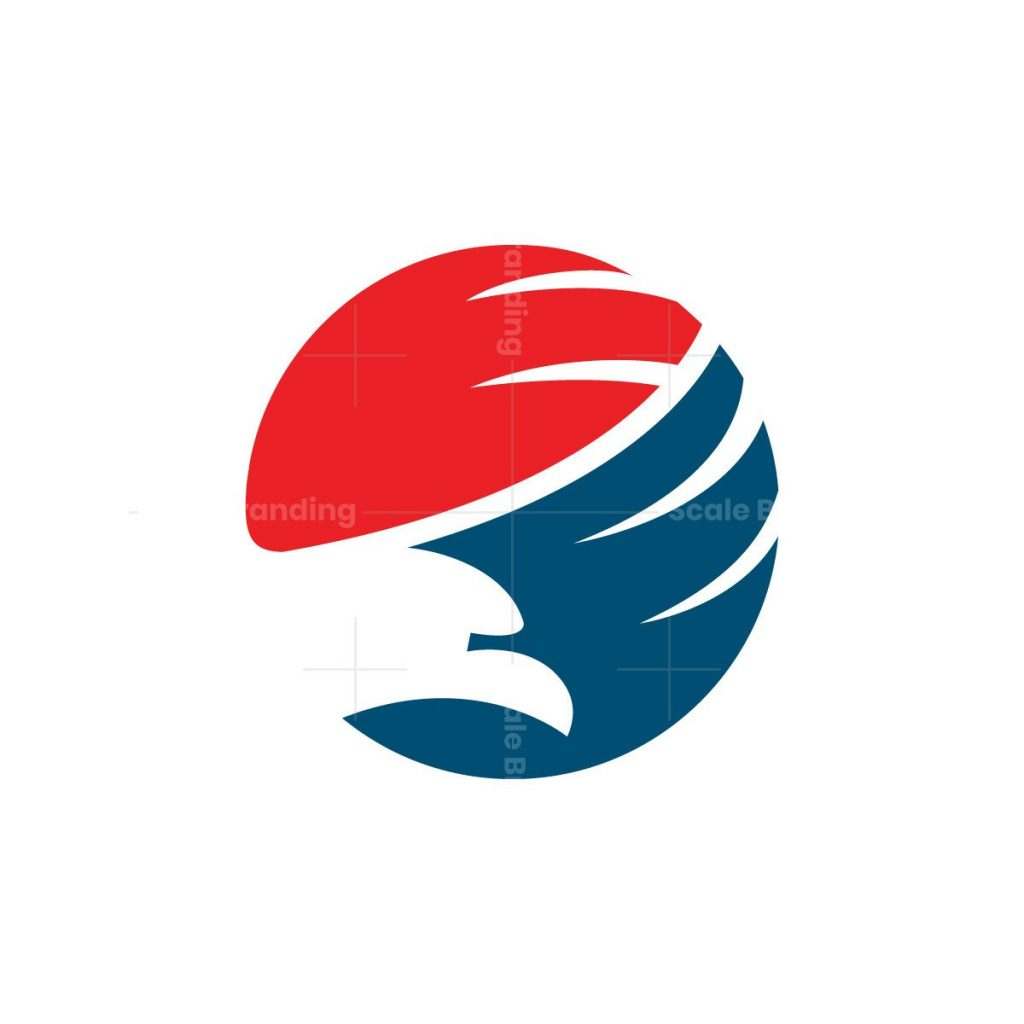 Earth Globe Eagle Logo
