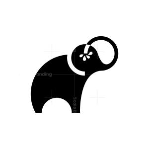 Water Black Elephant Logo