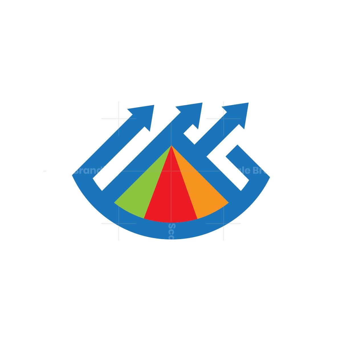 Financial Chart Mountain Logo