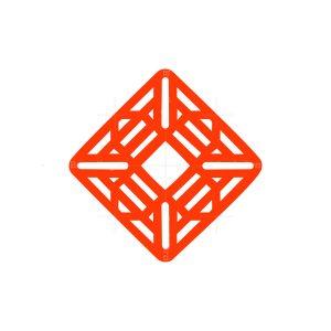 line flower stylish and trendy symbol logo