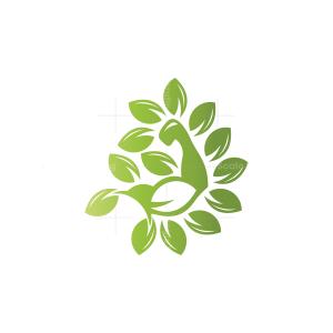 Nature Organic Gym Logo Fitness Logo