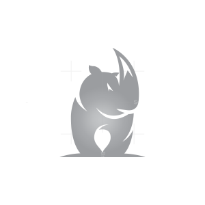 Front Rhino Logo Silver Rhino Logo