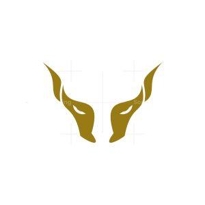 gold bull horn symbol logo