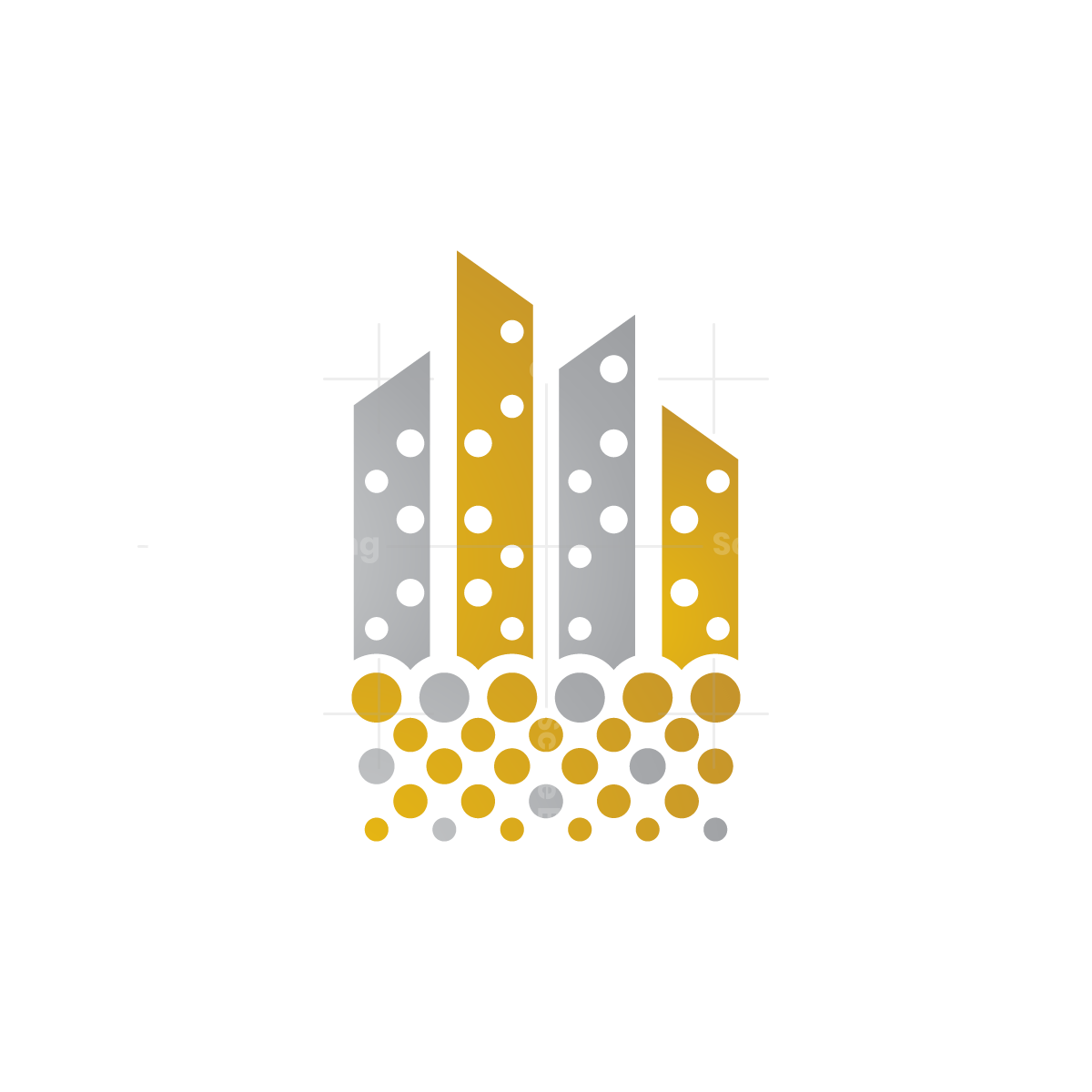Gold Silver Real Estate Logo