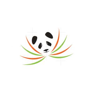 Grass Panda Logo Panda Head Logo