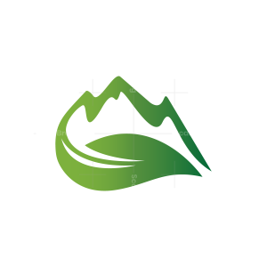 Green Leaf Mountain Logo Nature Mountain Logo