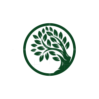 Circle Green Tree Logo Tree Logo