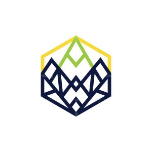 Hexagon Mountain Logo