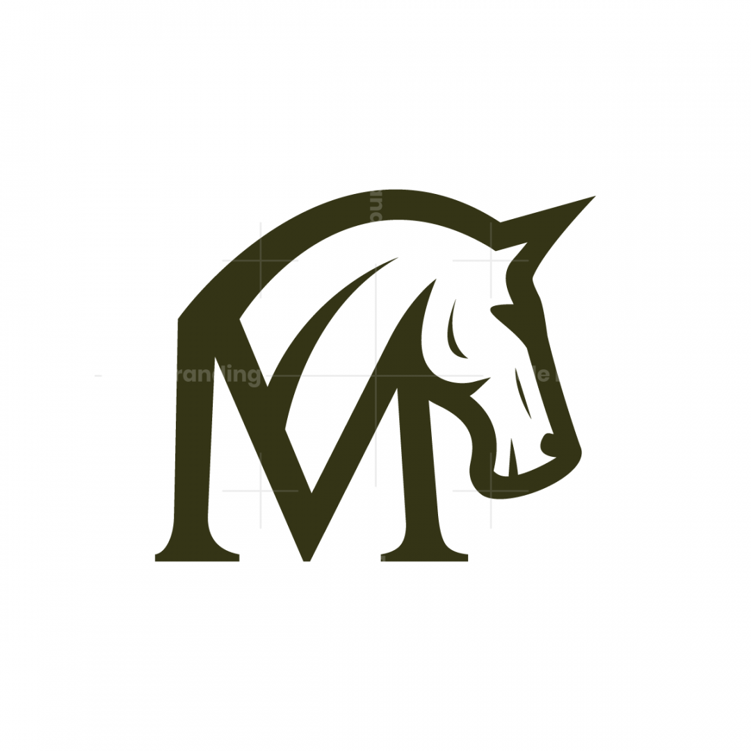 Letter M Horse Logo
