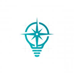 Light Bulb Compass Logo