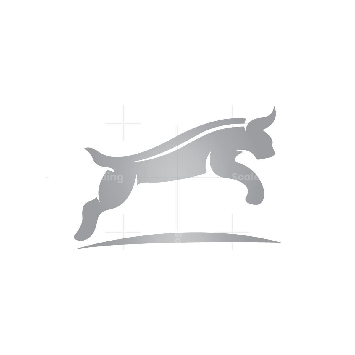 Bobcat Logo Jumping Lynx Logo