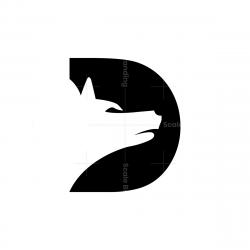 Letter D Dog Logo