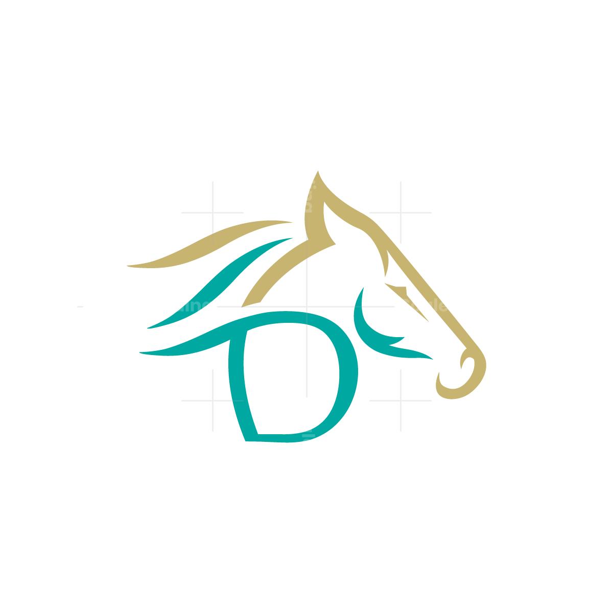 Letter D Horse Logo
