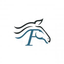 Letter F Horse Logo