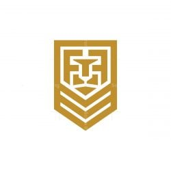 Letter F Shield Lion Logo