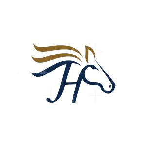 Letter H Horse Logo