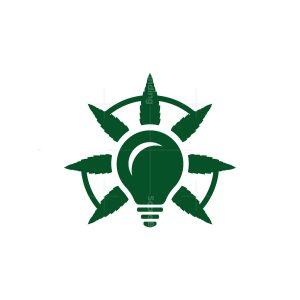 Light Bulb Think Cannabis Logo