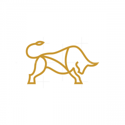 Linear Golden Bull Logo