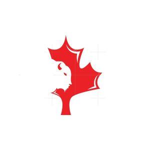 Maple Leaf Canadian Bison Logo