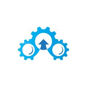 Gear Mechanic Cloud Logo