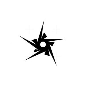 Modern Black Star Logo