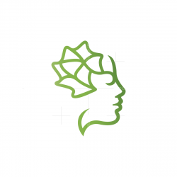 Brain Woman Logo