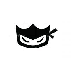 ninja king mascot logo