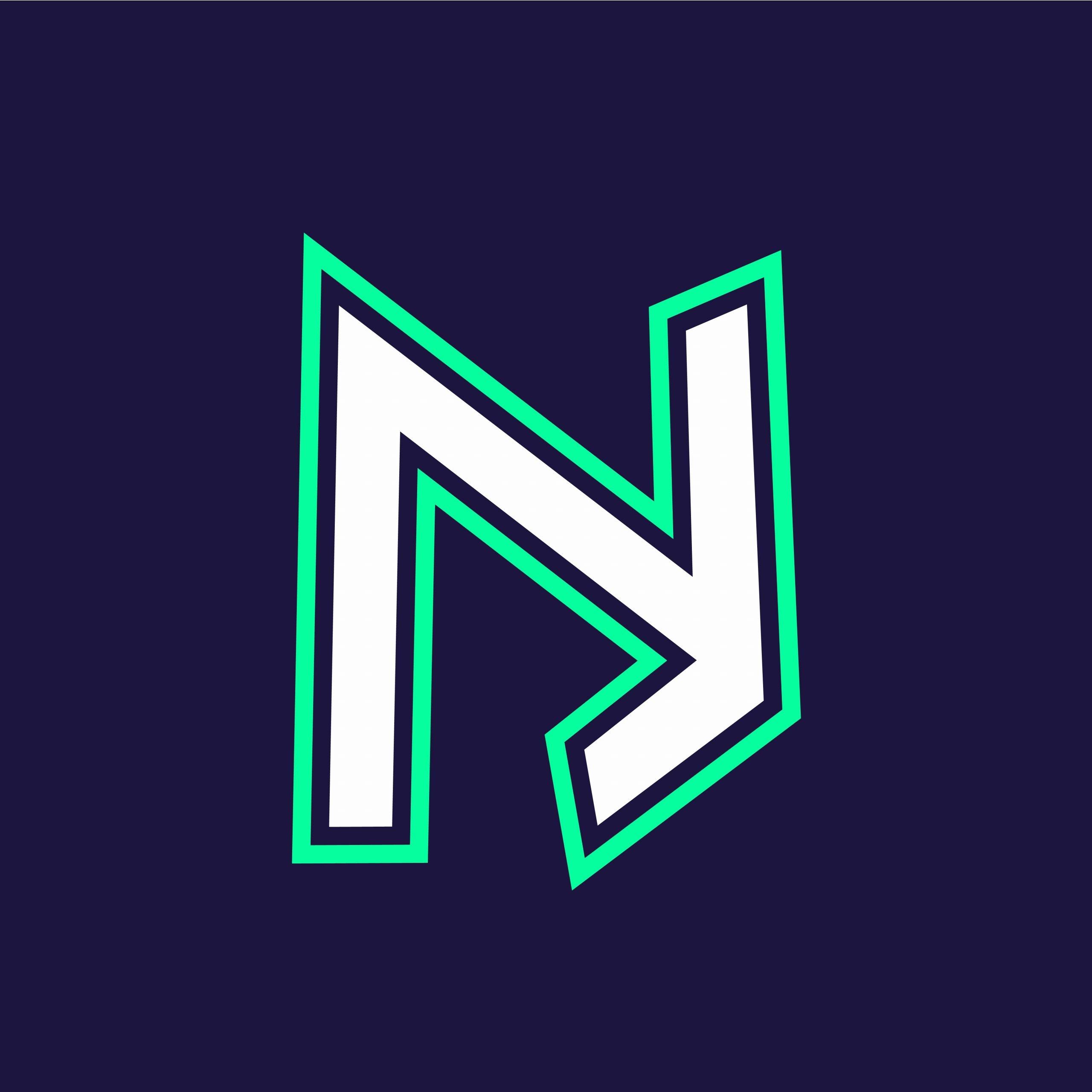 NJ Initials Letter Mascot Logo