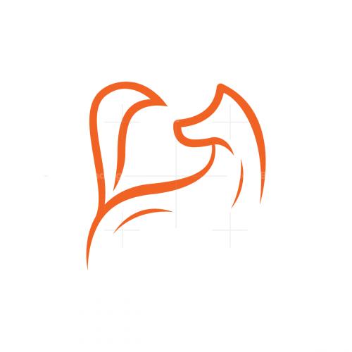 Lines Fox Logo Stylized Fox Logo