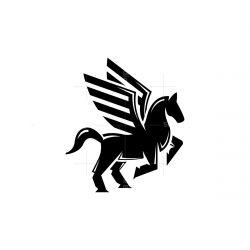 Strong Black Pegasus Logo