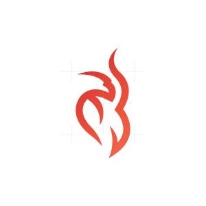 Flame Fire Phoenix Logo