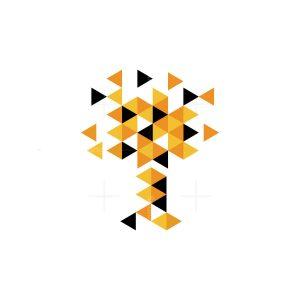 Digital Pixel Tree Logo