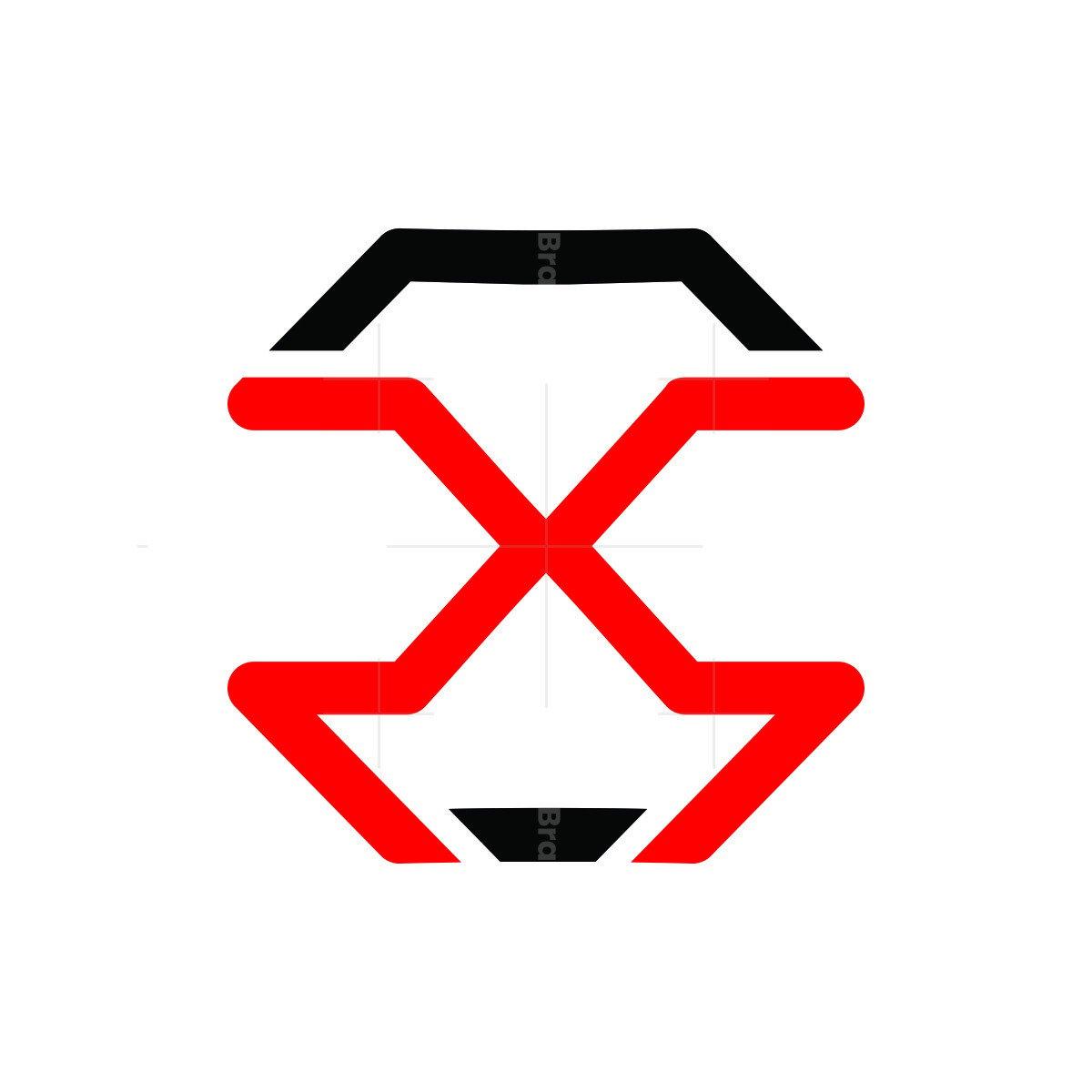 ps trendy letter logo