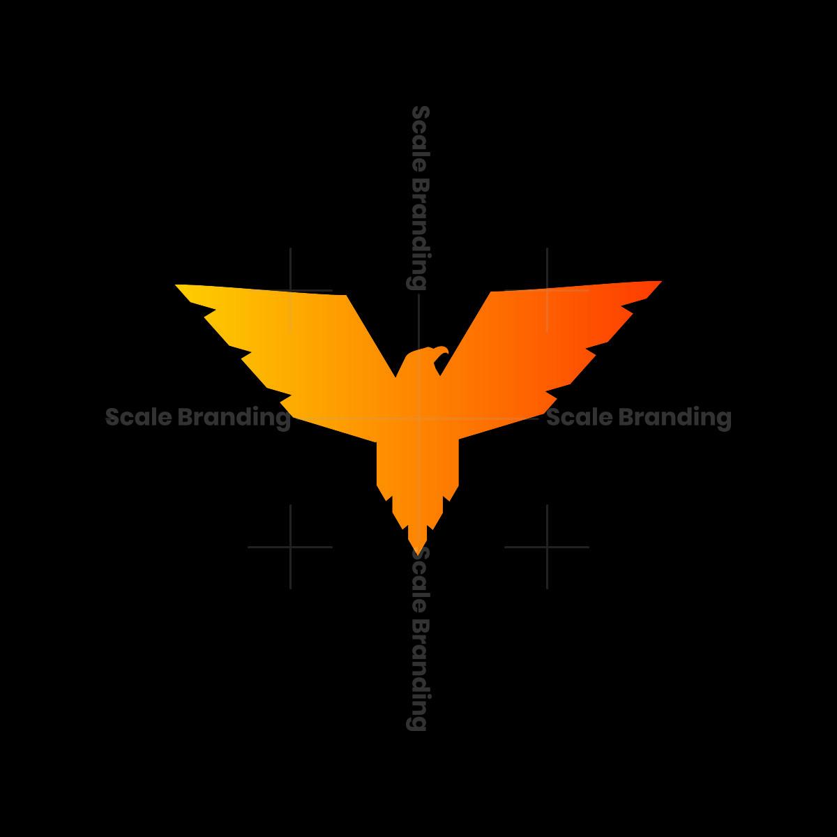 stylish eagle wing symbol logo