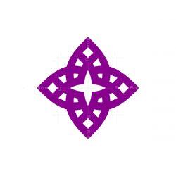 stylish star flower symbol logo