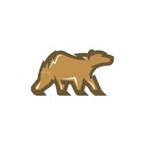 Brown Grizzly Bear Logo
